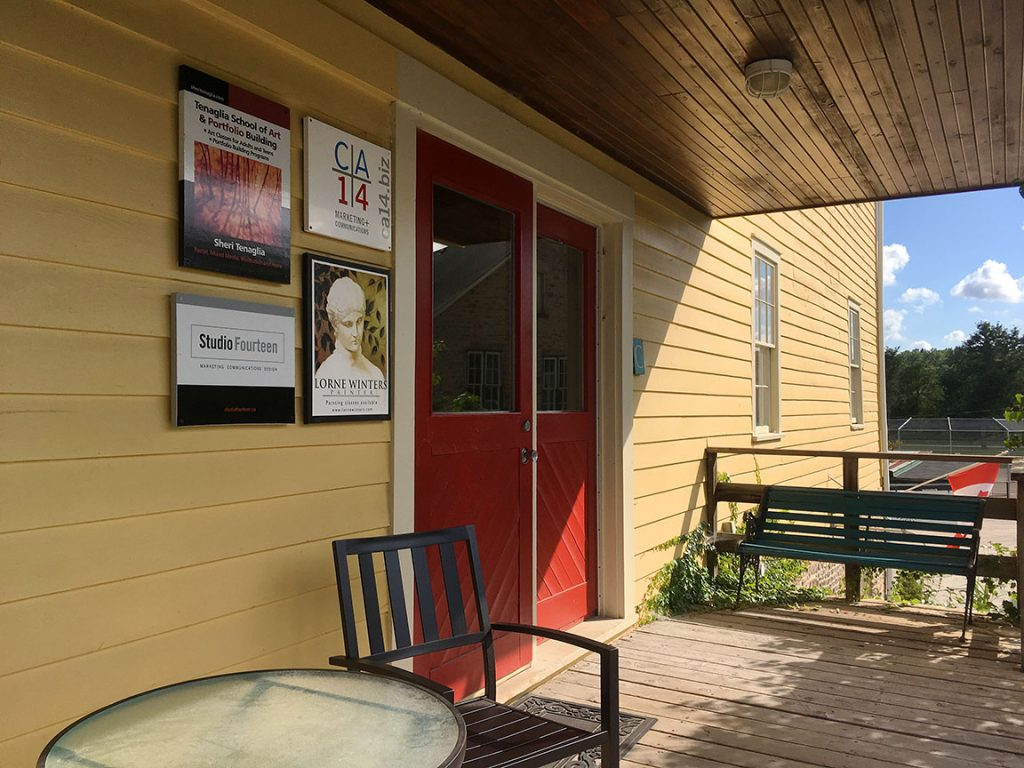 The front door to the CA+14 office.