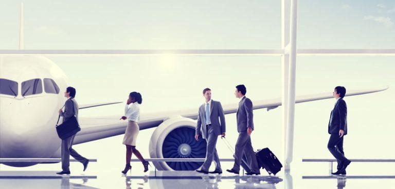 people getting ready to board a flight