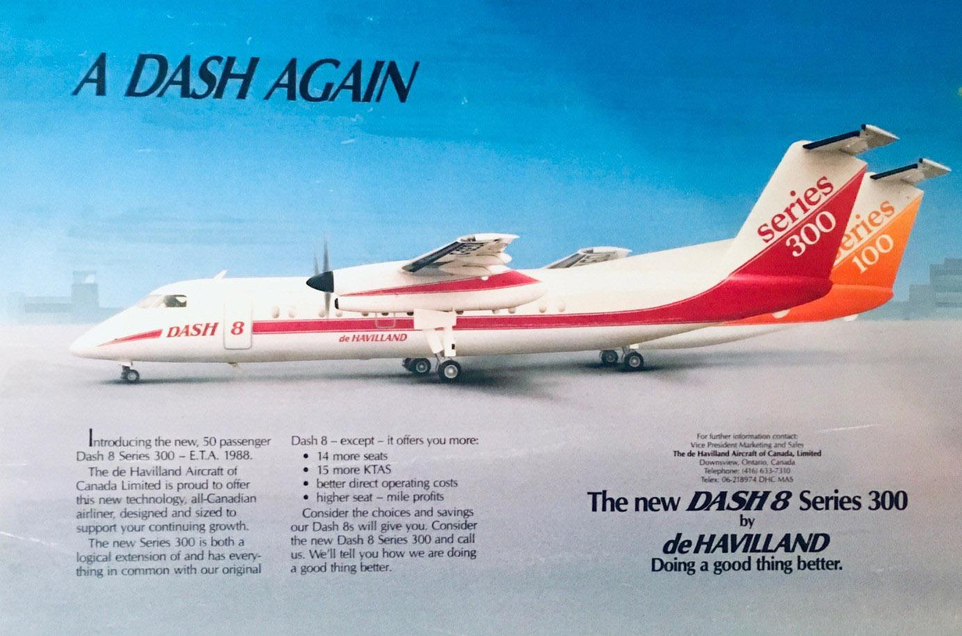 Dash 8 advertisement