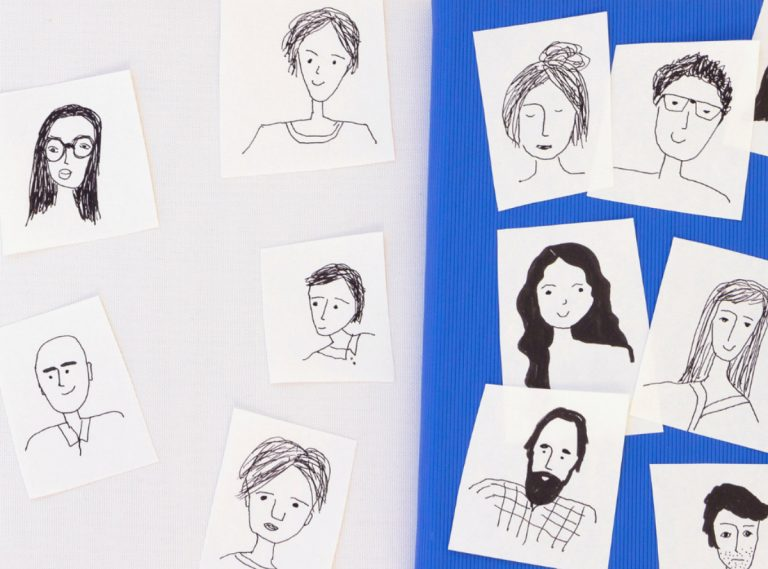 sketches of people in groups
